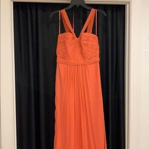 Amsale Bridesmaids Halter Coral Dress Size 8